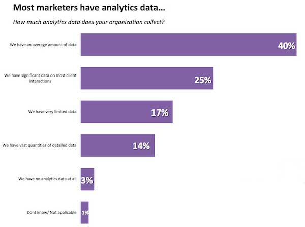 Most Marketers Have Analytics Data